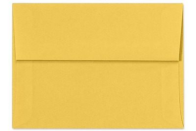 LUX A6 Invitation Envelopes (4 3/4 x 6 1/2) 50/Box, Goldenrod (SH4275-08-50)