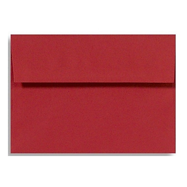 LUX A6 Invitation Envelopes (4 3/4 x 6 1/2), Holiday Red, 250/Box (FE4275-15-250)