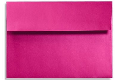LUX A6 Invitation Envelopes (4 3/4 x 6 1/2) 250/Box, Hottie Pink (FA4875-04-250)