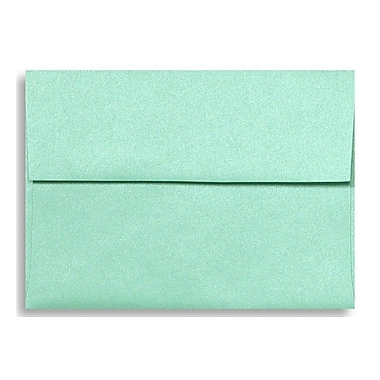 LUX A6 Invitation Envelopes (4 3/4 x 6 1/2) 50/Box, Lagoon Metallic (5375-27-50)