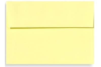 LUX A6 Invitation Envelopes (4 3/4 x 6 1/2) 50/Box, Lemonade (EX4875-15-50)