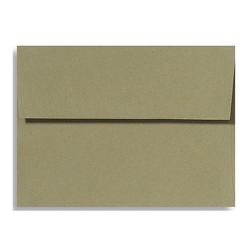 """LUX® 4 3/4"""" x 6 1/2"""" 70lbs. A6 Invitation Envelopes W/Glue, Moss Green, 50/Pack"""