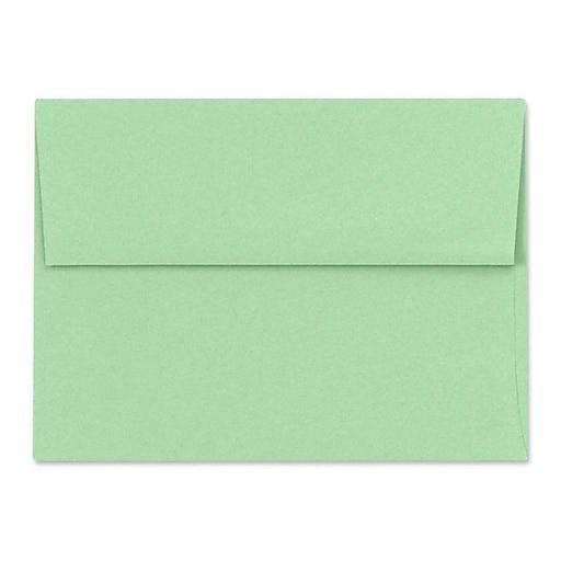 LUX A6 Invitation Envelopes (4 3/4 x 6 1/2) 50/Box, Pastel Green (SH4275-04-50)