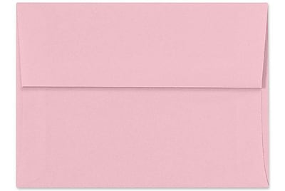 LUX A6 Invitation Envelopes (4 3/4 x 6 1/2) 250/Box, Pastel Pink (SH4275-06-250)