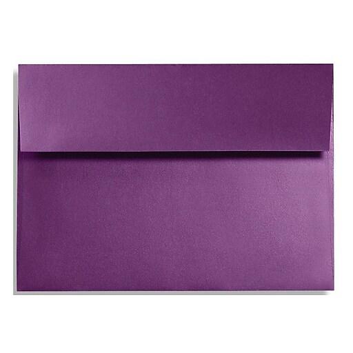 LUX A6 Invitation Envelopes (4 3/4 x 6 1/2) 50/Box, Purple Power (FA4875-06-50)