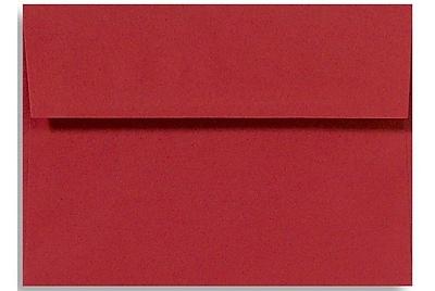 LUX A6 Invitation Envelopes (4 3/4 x 6 1/2) 50/Box, Ruby Red (EX4875-18-50)