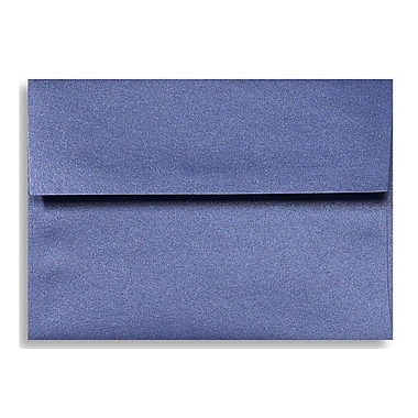 LUX A6 Invitation Envelopes (4 3/4 x 6 1/2) 50/Box, Sapphire Metallic (5375-18-50)