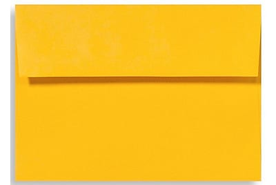 LUX A6 Invitation Envelopes (4 3/4 x 6 1/2) 1000/Box, Sunflower (EX4875-12-1000)