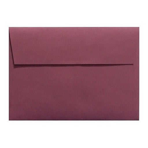 LUX A6 Invitation Envelopes (4 3/4 x 6 1/2) 50/Box, Vintage Plum (LUX-4875-104-50)