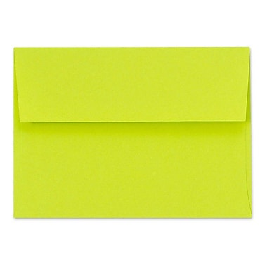 LUX A6 Invitation Envelopes (4 3/4 x 6 1/2) 250/Box, Wasabi (FE4275-22-250)