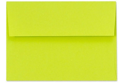 LUX A6 Invitation Envelopes (4 3/4 x 6 1/2) 500/Box, Wasabi (FE4275-22-500)