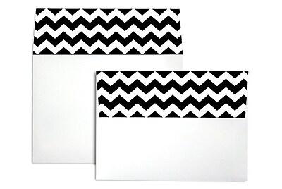LUX A7 Colorflaps Envelopes (5 1/4 x 7 1/4) 50/Box, Black Chevron (CF4880-BCHV-50)