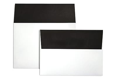 LUX A7 Colorflaps Envelopes (5 1/4 x 7 1/4) 50/Box, Black Flap (CF4880-B-50)