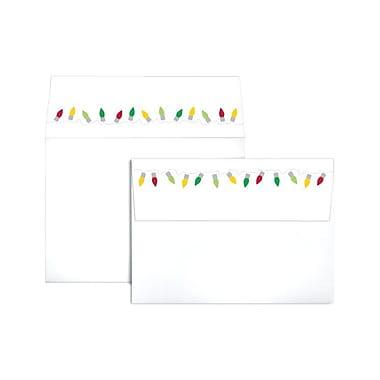 LUX A7 Colorflaps Envelopes (5 1/4 x 7 1/4) 250/Box, Christmas Lights (CF4880-96-250)