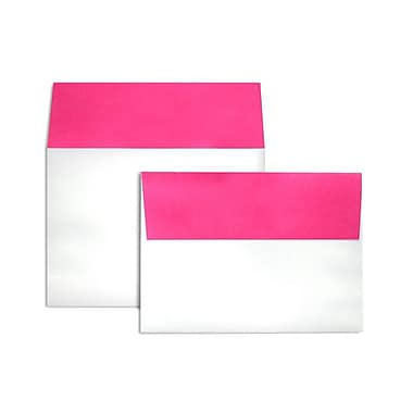 LUX A7 Colorflaps Envelopes (5 1/4 x 7 1/4) 50/Box, Fuchsia Flap (CF4880-16-50)
