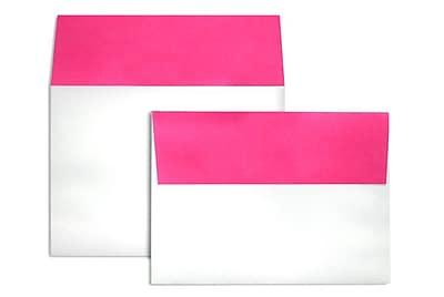 LUX A7 Colorflaps Envelopes (5 1/4 x 7 1/4) 500/Box, Fuchsia Flap (CF4880-16-500)