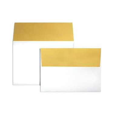 LUX A7 Colorflaps Envelopes (5 1/4 x 7 1/4) 50/Box, Gold Flap (CF4880-07-50)