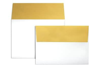 LUX A7 Colorflaps Envelopes (5 1/4 x 7 1/4) 250/Box, Gold Flap (CF4880-07-250)