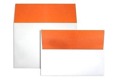 LUX A7 Colorflaps Envelopes (5 1/4 x 7 1/4) 250/Box, Mandarin Flap (CF4880-11-250)