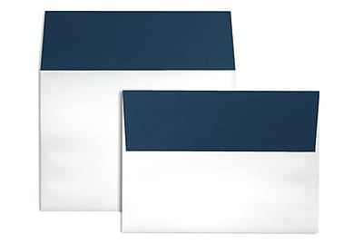 LUX A7 Colorflaps Envelopes (5 1/4 x 7 1/4) 250/Box, Navy Flap (CF4880-103-250)