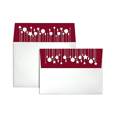 LUX A7 Colorflaps Envelopes (5 1/4 x 7 1/4) 50/Box, Ornaments (CF4880-98-50)