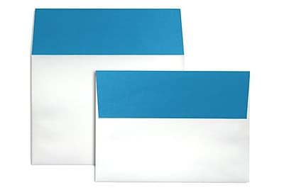 LUX A7 Colorflaps Envelopes (5 1/4 x 7 1/4) 50/Box, Pool Flap (CF4880-102-50)