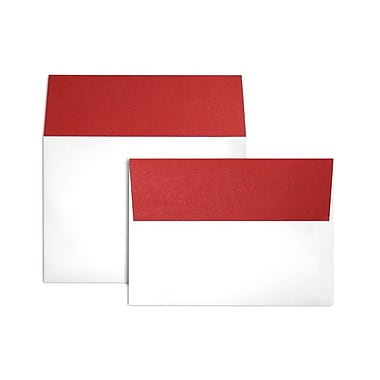 LUX A7 Colorflaps Envelopes (5 1/4 x 7 1/4) 50/Box, Ruby Red Flap (CF4880-18-50)