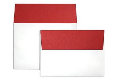 LUX A7 Colorflaps Envelopes (5 1/4 x 7 1/4) 250/Box, Ruby Red Flap (CF4880-18-250)