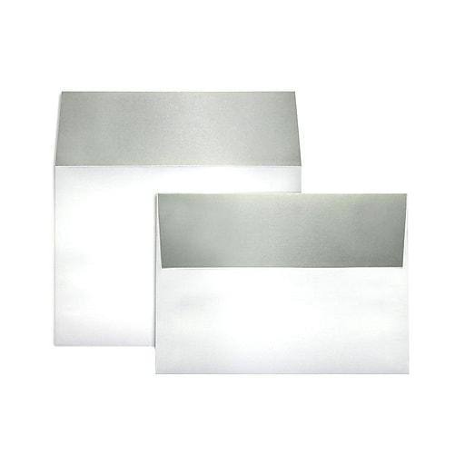 LUX A7 Colorflaps Envelopes (5 1/4 x 7 1/4) 50/Box, Silver Flap (CF4880-06-50)