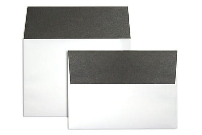 LUX A7 Colorflaps Envelopes (5 1/4 x 7 1/4) 50/Box, Smoke Flap (CF4880-22-50)