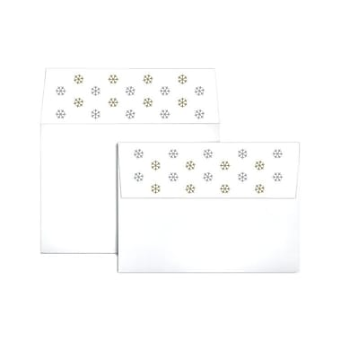 LUX A7 Colourflaps Envelopes (5 1/4 x 7 1/4), Snowflakes, 50/Box (CF4880-99-50)