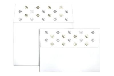 LUX A7 Colorflaps Envelopes (5 1/4 x 7 1/4) 500/Box, Snowflakes (CF4880-99-500)