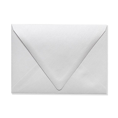 LUX A7 Contour Flap Envelopes (5 1/4 x 7 1/4), Crystal Metallic, 50/Box (1880-30-50)