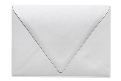 LUX A7 Contour Flap Envelopes (5 1/4 x 7 1/4) 250/Box, Crystal Metallic (1880-30-250)