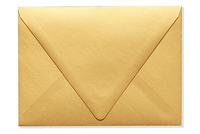 LUX A7 Contour Flap Envelopes (5 1/4 x 7 1/4) 50/Box, Gold Metallic (1880-07-50)