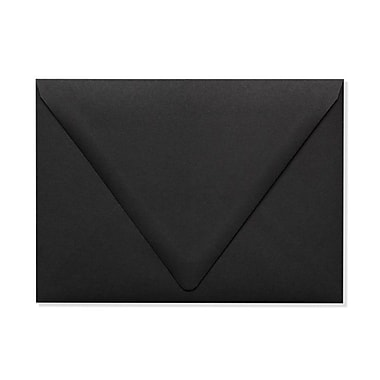 LUX A7 Contour Flap Envelopes (5 1/4 x 7 1/4) 50/Box, Midnight Black (1880-B-50)