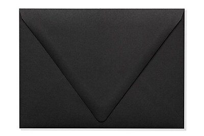 LUX A7 Contour Flap Envelopes (5 1/4 x 7 1/4) 500/Box, Midnight Black (1880-B-500)