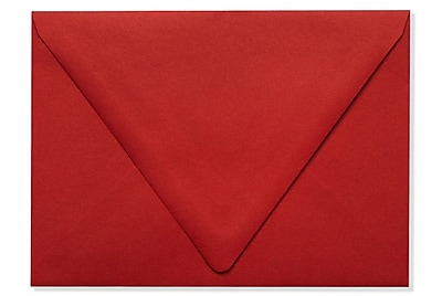 LUX A7 Contour Flap Envelopes (5 1/4 x 7 1/4) 1000/Box, Ruby Red (EX-1880-18-1000)