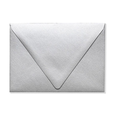 LUX A7 Contour Flap Envelopes (5 1/4 x 7 1/4), Silver Metallic