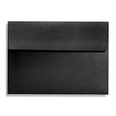 LUX A7 Invitation Envelopes (5 1/4 x 7 1/4) 50/Box, Black Satin (FA4880-01-50)
