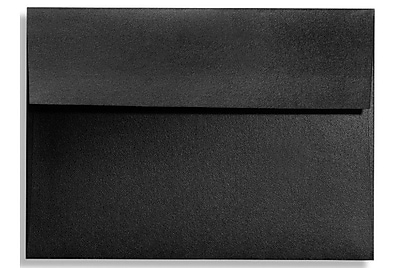 LUX A7 Invitation Envelopes (5 1/4 x 7 1/4) 250/Box, Black Satin (FA4880-01-250)