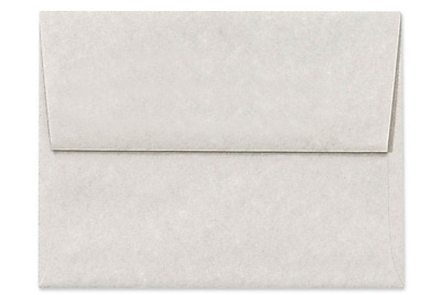 LUX A7 Invitation Envelopes (5 1/4 x 7 1/4) 50/Box, Gray Parchment (6680-13-50)