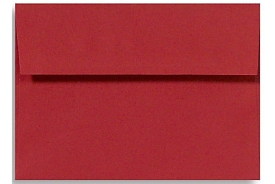 LUX A7 Invitation Envelopes (5 1/4 x 7 1/4) 500/Box, Holiday Red (FE4280-15-500)