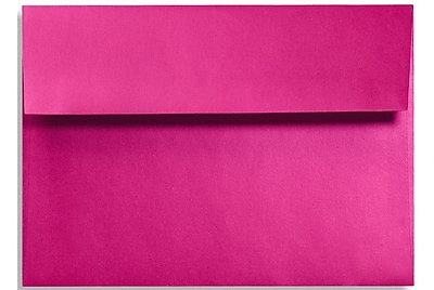 LUX A7 Invitation Envelopes (5 1/4 x 7 1/4) 250/Box, Hottie Pink (FA4880-04-250)