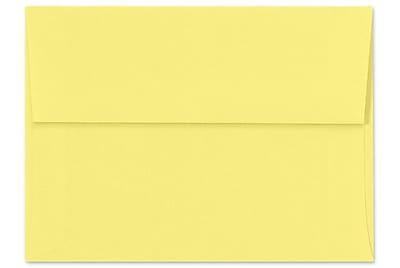 LUX A7 Invitation Envelopes (5 1/4 x 7 1/4) 1000/Box, Pastel Canary (SH4280-02-1000)