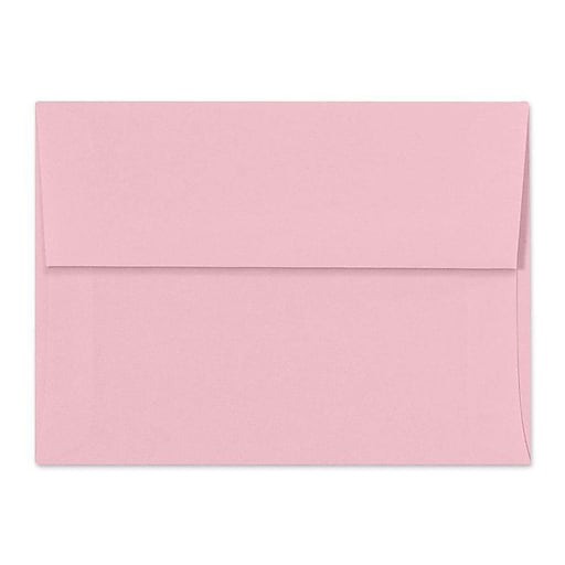 LUX A7 Invitation Envelopes (5 1/4 x 7 1/4) 50/Box, Pastel Pink (SH4280-06-50)