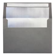 LUX A7 Foil Lined Invitation Envelopes (5 1/4 x 7 1/4) 250/Box, Smoke w/Silver LUX Lining (FLSM4880-03-250)