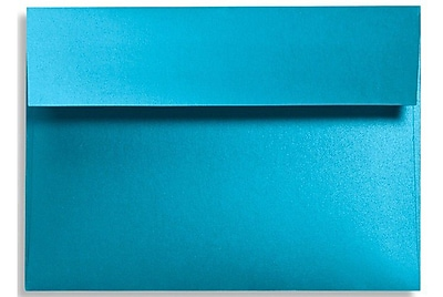 LUX A7 Invitation Envelopes (5 1/4 x 7 1/4) 250/Box, Trendy Teal (FA4880-07-250)