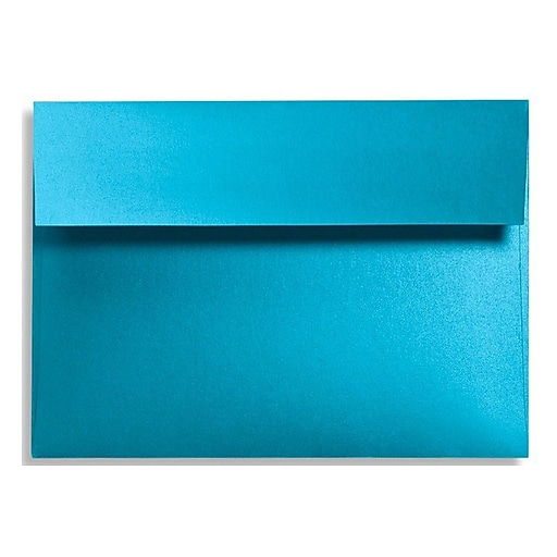 LUX A7 Invitation Envelopes (5 1/4 x 7 1/4) 50/Box, Trendy Teal (FA4880-07-50)