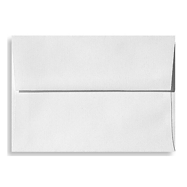 LUX A7 Invitation Envelopes (5 1/4 x 7 1/4) 500/Box, White Linen (4880-WLI-500)